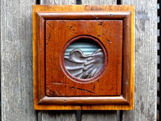 Handmade collectible with pressed metal 'garden' $199