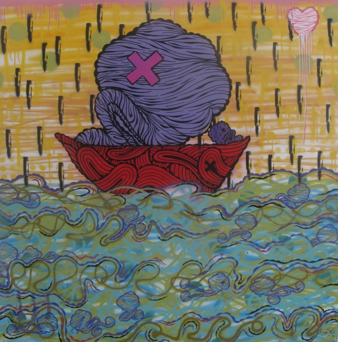 Ship of Fools by Kongsak 130x130cm $1990