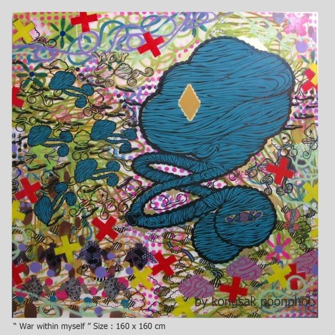War With Myself by Ty 160x160cm $3990