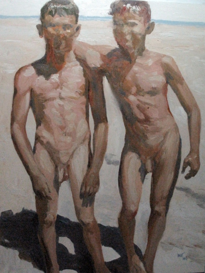 Two Boys by Dusit Pimchangthong 120x160cm $1790
