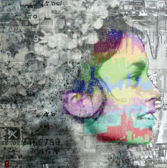 Smiling Girl by Pansa 100x100cm $1790