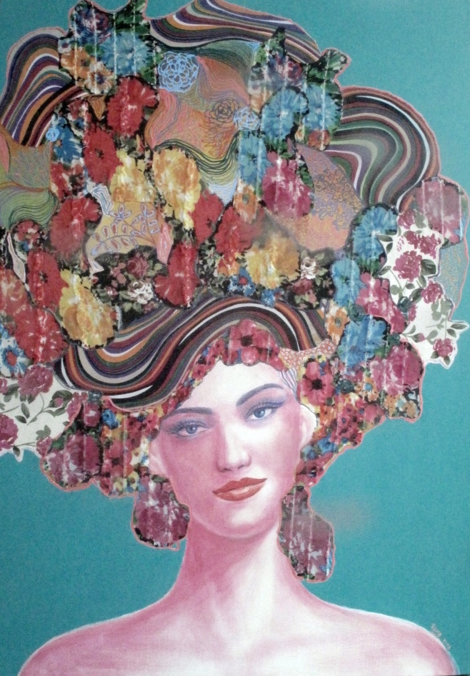 Girl with hat by Rungrudee 70x100cm $1690