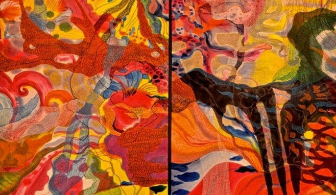 """Morning Whisper"" 200x100cm, diptych, (ciio)"