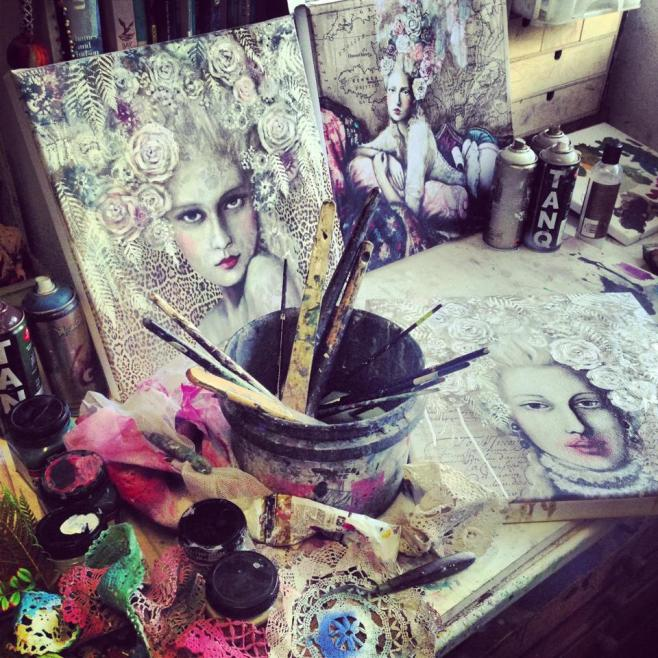 Tania's studio workspace