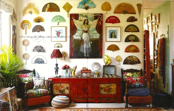 Tania's Fan Wall. Image from Art Edit Article.