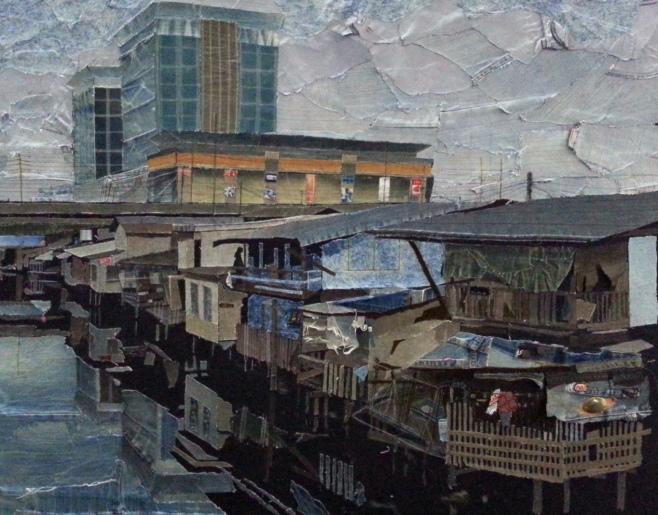 Pongsakul Chalao : Art created with recycled denim.......