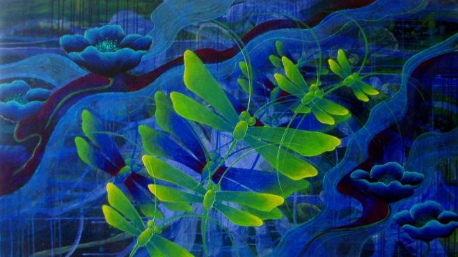 Dreams of Blue 160x90cm (ahgo)