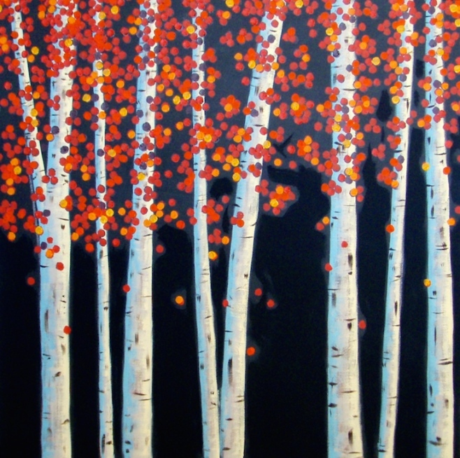 Flame Trees 100x100cm (acfo)
