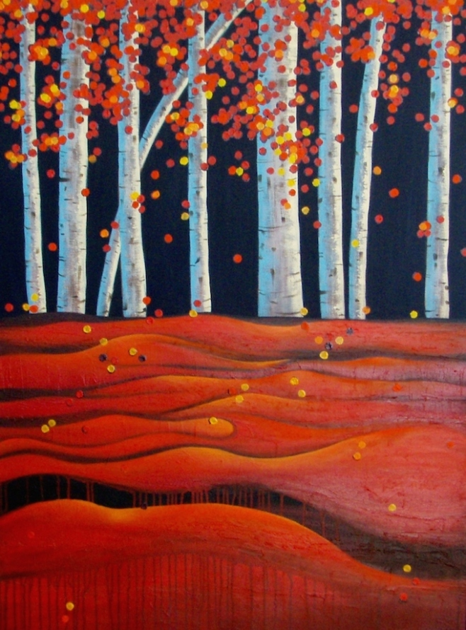 Flames and Red Earth 90x120cm (bodo)