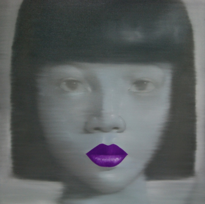 "Tusk Gallery : Attasit Pokpong : ""Purple"" : 2011: Oil on Canvas : 120x120cm"