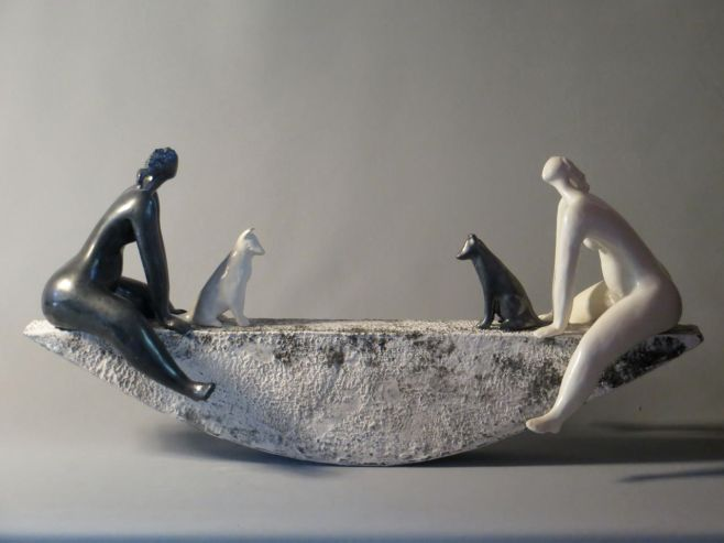 Celebrate the Difference, 25x60x15cm, ceramic slip, glaze surface