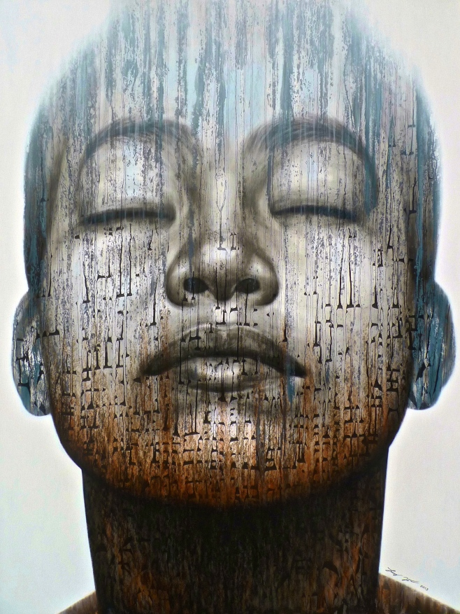"""Paitoon Jumee """"Meditation"""" 145x200cm"""