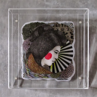 Aninta Boonnotok : Ninja Blush : Perspex Framed L/E
