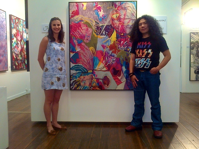 John Martono at Tusk Gallery with Gallery Director Olivia Fuller