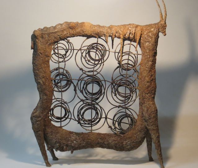 Springbook, 70x53x15cm, ceramic and steel