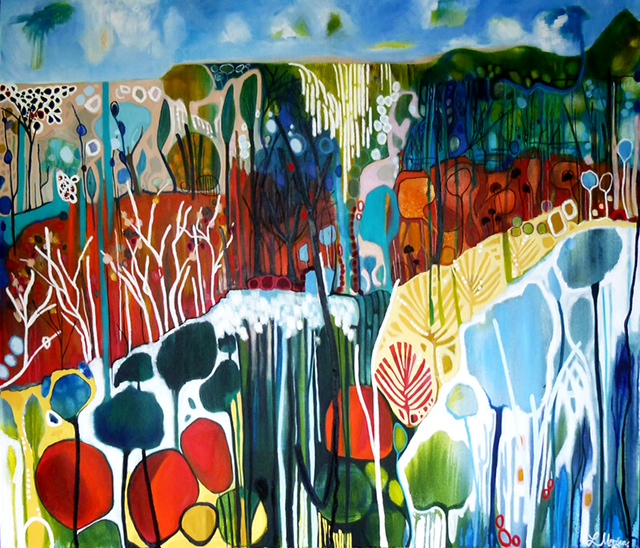 "Lisa Morgan "" No ordinary Land"" 180x150cm"
