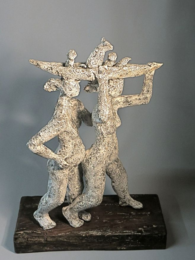 Together, 61x45x20cm, ceramic, slip surface