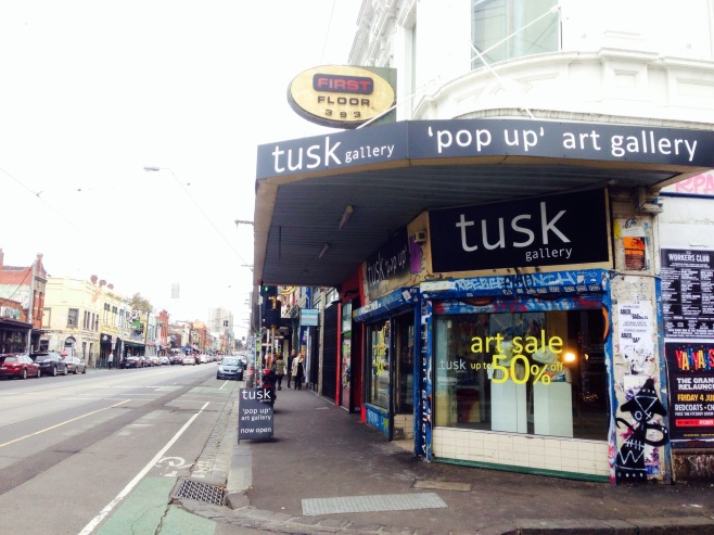 Exterior of Tusk Gallery Fitzroy